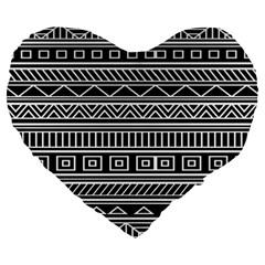 Myria Wrapping Paper Black Large 19  Premium Heart Shape Cushions by Alisyart
