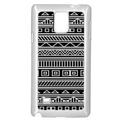 Myria Wrapping Paper Black Samsung Galaxy Note 4 Case (white) by Alisyart