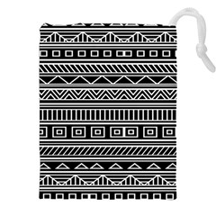 Myria Wrapping Paper Black Drawstring Pouches (xxl) by Alisyart