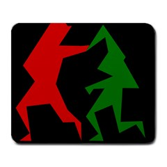 Ninja Graphics Red Green Black Large Mousepads by Alisyart