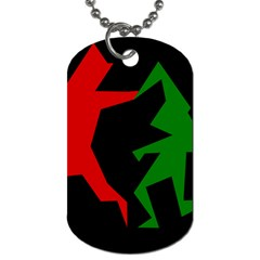 Ninja Graphics Red Green Black Dog Tag (one Side) by Alisyart