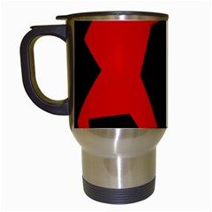 Ninja Graphics Red Green Black Travel Mugs (white) by Alisyart