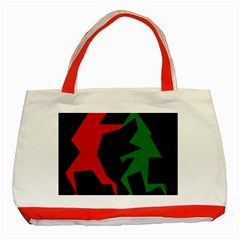 Ninja Graphics Red Green Black Classic Tote Bag (red) by Alisyart
