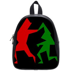 Ninja Graphics Red Green Black School Bags (small)  by Alisyart