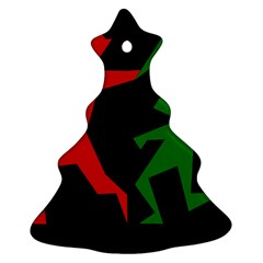 Ninja Graphics Red Green Black Ornament (christmas Tree)  by Alisyart