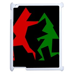 Ninja Graphics Red Green Black Apple Ipad 2 Case (white) by Alisyart