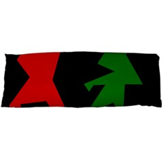 Ninja Graphics Red Green Black Body Pillow Case (dakimakura) by Alisyart