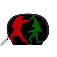 Ninja Graphics Red Green Black Accessory Pouches (small)  by Alisyart