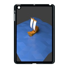 Low Poly Boat Ship Sea Beach Blue Apple Ipad Mini Case (black) by Alisyart