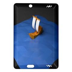 Low Poly Boat Ship Sea Beach Blue Amazon Kindle Fire Hd (2013) Hardshell Case by Alisyart