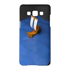 Low Poly Boat Ship Sea Beach Blue Samsung Galaxy A5 Hardshell Case  by Alisyart