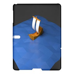 Low Poly Boat Ship Sea Beach Blue Samsung Galaxy Tab S (10 5 ) Hardshell Case  by Alisyart