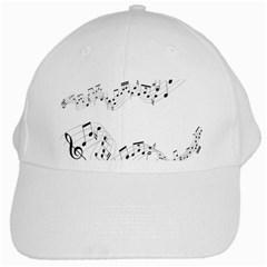 Music Note Song Black White White Cap by Alisyart