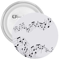 Music Note Song Black White 3  Buttons by Alisyart