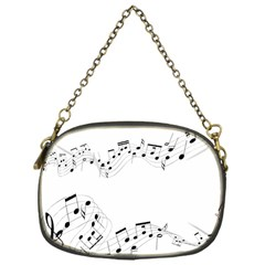 Music Note Song Black White Chain Purses (one Side)  by Alisyart