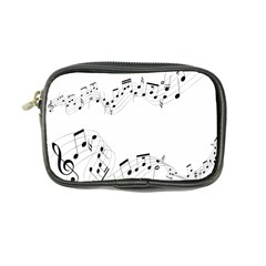 Music Note Song Black White Coin Purse by Alisyart