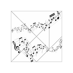 Music Note Song Black White Acrylic Tangram Puzzle (4  X 4 ) by Alisyart
