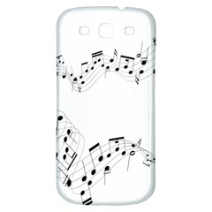 Music Note Song Black White Samsung Galaxy S3 S Iii Classic Hardshell Back Case by Alisyart