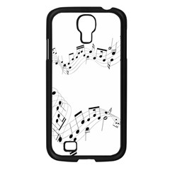 Music Note Song Black White Samsung Galaxy S4 I9500/ I9505 Case (black) by Alisyart