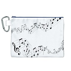 Music Note Song Black White Canvas Cosmetic Bag (xl) by Alisyart