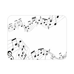 Music Note Song Black White Double Sided Flano Blanket (mini)  by Alisyart