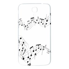 Music Note Song Black White Samsung Galaxy Mega I9200 Hardshell Back Case by Alisyart