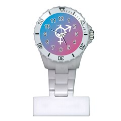 Perfume Graphic Man Women Purple Pink Sign Spray Plastic Nurses Watch by Alisyart