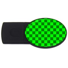 Plaid Flag Green Usb Flash Drive Oval (4 Gb) by Alisyart