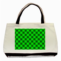 Plaid Flag Green Basic Tote Bag by Alisyart