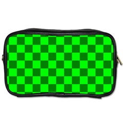 Plaid Flag Green Toiletries Bags 2 Side by Alisyart