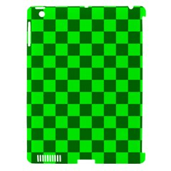 Plaid Flag Green Apple Ipad 3/4 Hardshell Case (compatible With Smart Cover) by Alisyart