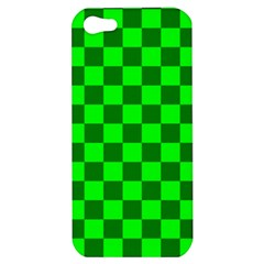 Plaid Flag Green Apple Iphone 5 Hardshell Case by Alisyart