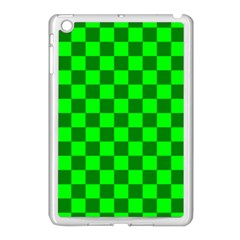 Plaid Flag Green Apple Ipad Mini Case (white) by Alisyart