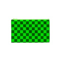 Plaid Flag Green Cosmetic Bag (xs) by Alisyart