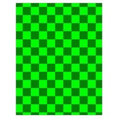 Plaid Flag Green Drawstring Bag (large) by Alisyart