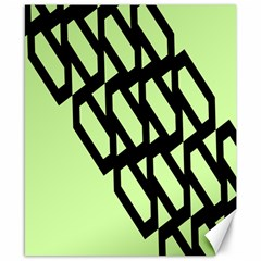 Polygon Abstract Shape Black Green Canvas 8  X 10  by Alisyart