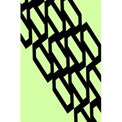 Polygon Abstract Shape Black Green 5 5  X 8 5  Notebooks by Alisyart