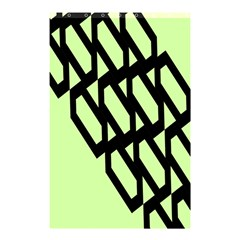 Polygon Abstract Shape Black Green Shower Curtain 48  X 72  (small)  by Alisyart