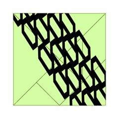 Polygon Abstract Shape Black Green Acrylic Tangram Puzzle (6  X 6 ) by Alisyart
