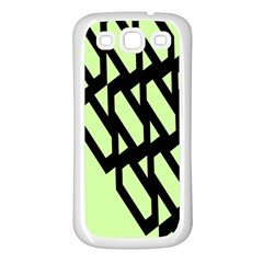 Polygon Abstract Shape Black Green Samsung Galaxy S3 Back Case (white) by Alisyart