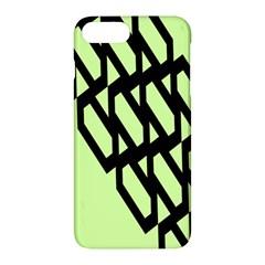 Polygon Abstract Shape Black Green Apple Iphone 7 Plus Hardshell Case by Alisyart