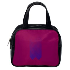 Purple Blue Classic Handbags (one Side) by Alisyart