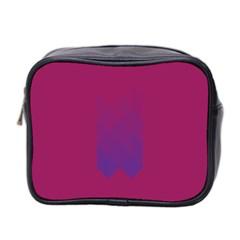 Purple Blue Mini Toiletries Bag 2 Side by Alisyart
