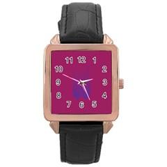 Purple Blue Rose Gold Leather Watch  by Alisyart