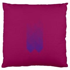 Purple Blue Large Flano Cushion Case (two Sides) by Alisyart