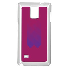 Purple Blue Samsung Galaxy Note 4 Case (white) by Alisyart