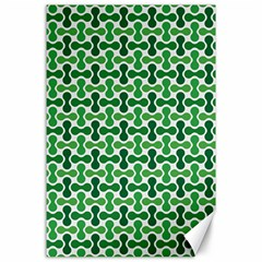 Green White Wave Canvas 24  X 36  by Alisyart