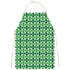 Green White Wave Full Print Aprons by Alisyart