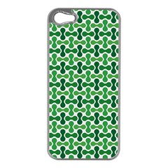 Green White Wave Apple Iphone 5 Case (silver) by Alisyart