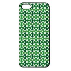Green White Wave Apple Iphone 5 Seamless Case (black) by Alisyart